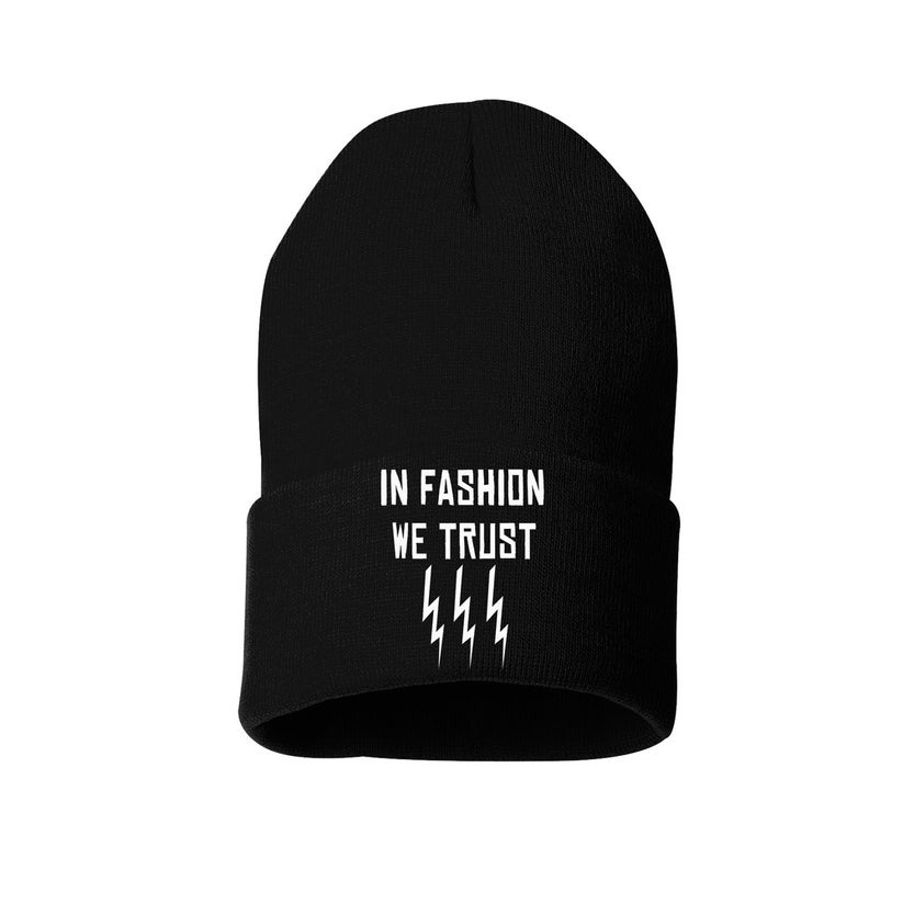 "Image of CMLA- ""IN FASHION WE TRUST"". beanie"