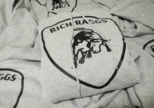 "Image of Light Steel/Black Rich Raggs ""Mercy"" Pullover Hoodie"