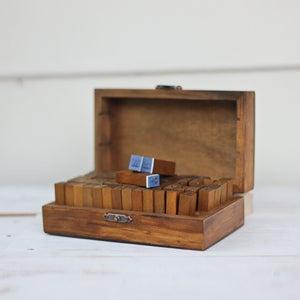 Image of Wooden Alphabet Stamp Set