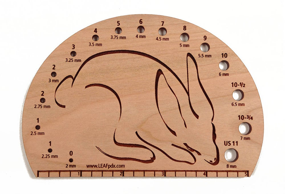 Image of Round Bunny Knitting Needle Gauge