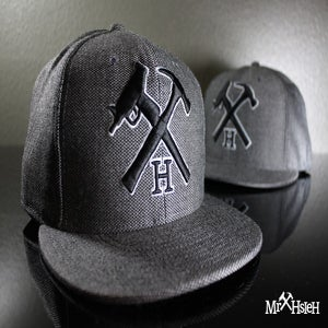 Image of Mr. Hsieh Logo Fitted Cap - Tweed
