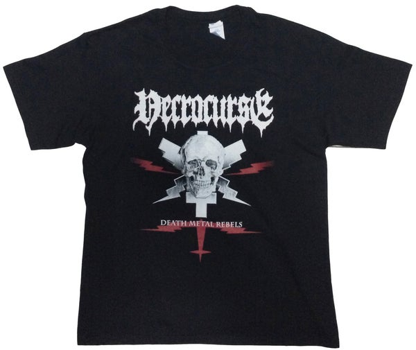 "Image of NECROCURSE ""Death Metal Rebels"" T-Shirt"