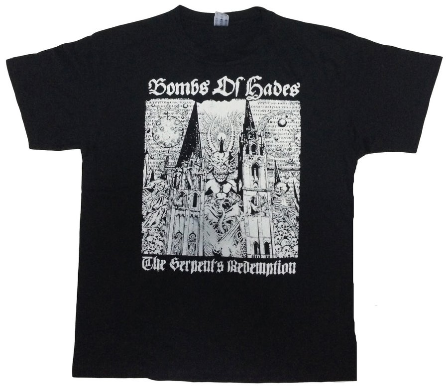 """Image of BOMBS OF HADES """"The Serpent's Redemption"""" T-Shirt"""