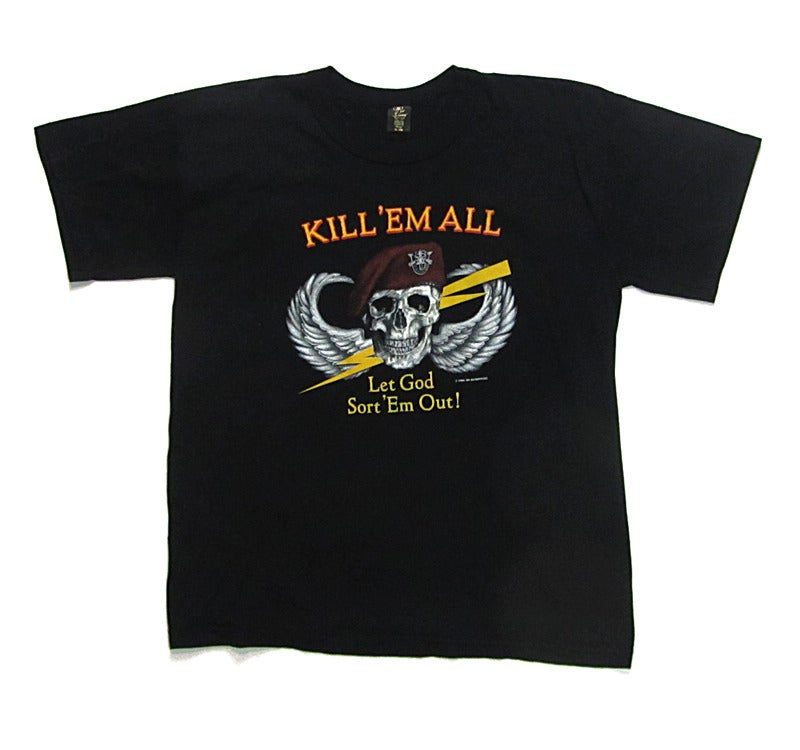 Greater goods co kill 39 em all black t shirt for Big cartel t shirts