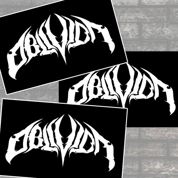 Image of OBLIVION - 3 Sticker Pack