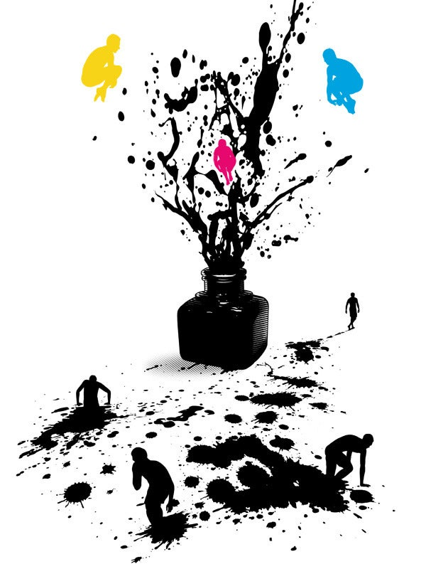 Image of Inked silkscreen poster
