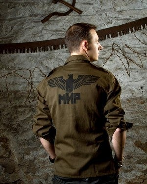 Image of SH45 [BLACK EAGLE] Vintage Army Combat Shirt w/Sleeve Straps