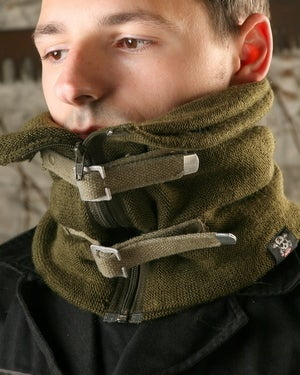 Image of SH77 [APOCALYPSE COWL] Reconstructed Military Surplus Neck Warmer / Army Wool Scarf