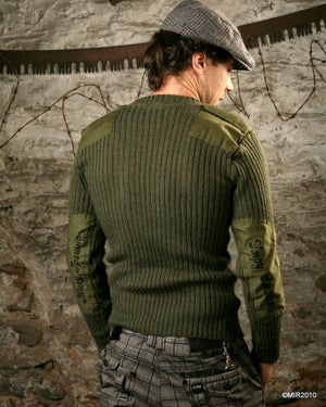 Image of SH46 [LIVE IN SIN, DIE IN GREEN] Military Surplus Army Commando Sweater