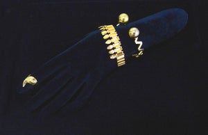"""Image of Library Brass """"The Queen"""" bracelet-without crystal 簡版皇后手環"""