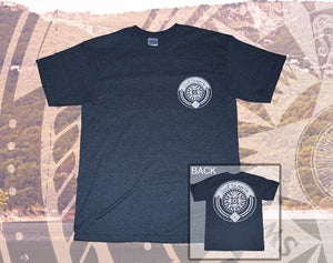 Image of Compass Tee - Heather Navy