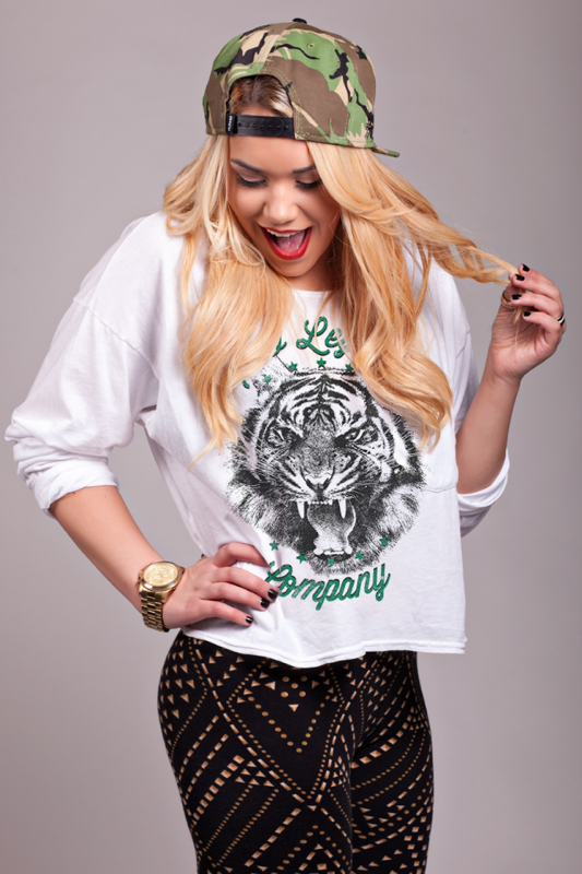 Image of Tiger Long Sleeve Pocket Tee