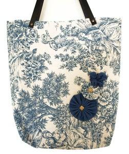 Image of TOTE BAG VINTAGE BLUE