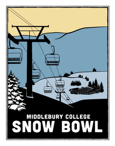 Image of Middlebury Snow Bowl Print