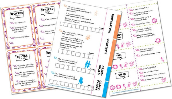 Image of Guess What? Vocabulary Games, Writing and Speaking Activity