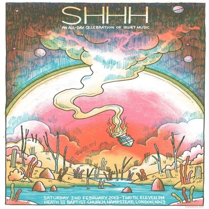 Image of Shhh Quiet Music Festival poster - Feb 2013