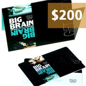 Image of $200.00 Big Brain Gift Card