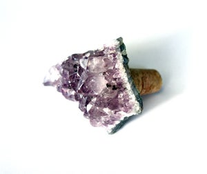Image of Amethyst Crystal Wine Stopper