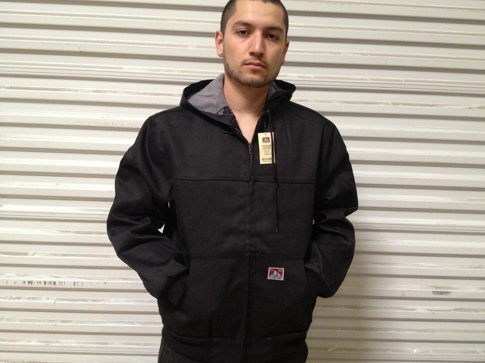 Image of Ben Davis Polar Fleece Lining Style #344 (Car-Lux Front Zip Hooded Denim Jacket)