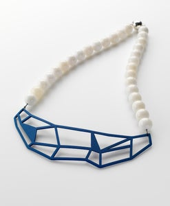 Image of Blue Geometric Necklace