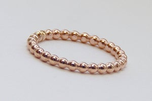Image of One 2mm 14k ROSE Gold Fill Stacking Ring - Handmade Rose Gold Stacking Ring