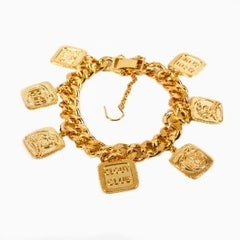 "Image of GOLD ""STATEMENT"" CHARM BRACELET"