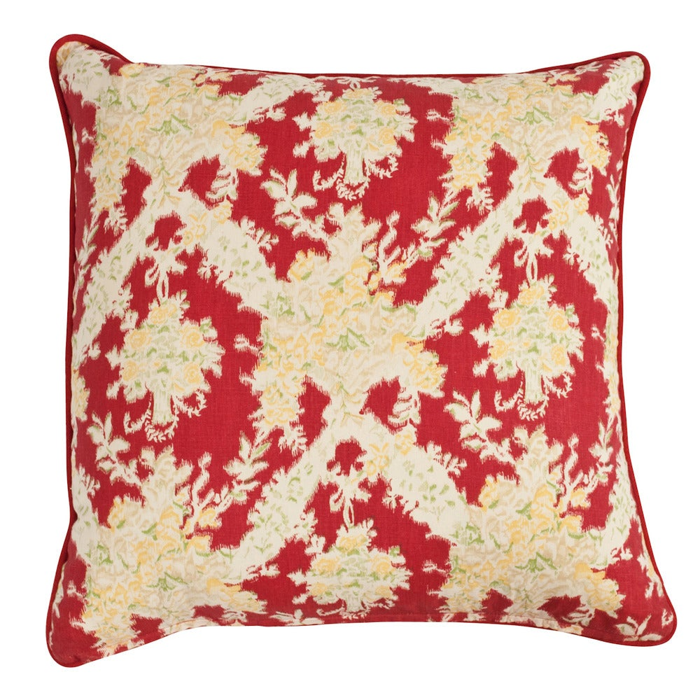 """Image of Ikat Red Single Sided 22"""" Pillow"""