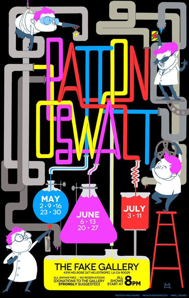 """Image of  """"Science Guys"""" Poster - SIGNED by Patton Oswalt! LIMITED AMOUNT!"""