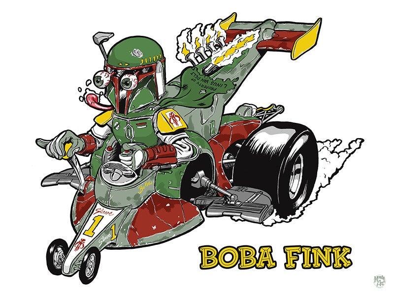 Image of Boba Fink Print