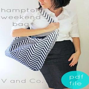 Image of hampton weekend bag- PDF file