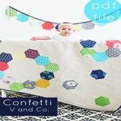Image of Confetti quilt -PDF file