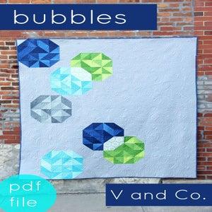 Image of bubbles quilt pattern-PDF