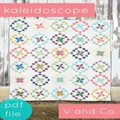 Image of kaleidoscope quilt-PDF file