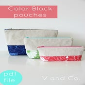 Image of color block zipper pouches-PDF