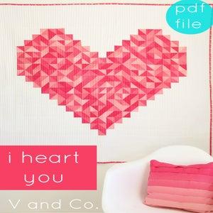 Image of i heart you PDF pattern