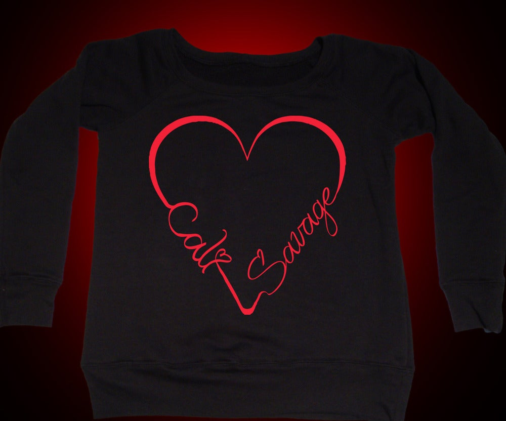 Image of Ladies - I Heart Cali Savage (Off the Shoulder Sweater)