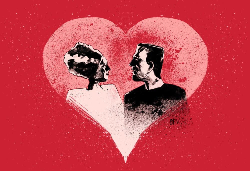 Image of Frankenstein Valentine (Original Giclee Fine Art Print)
