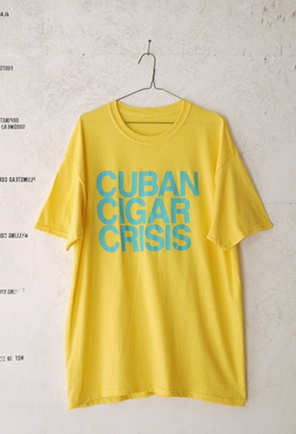 Image of Stacked Type T-Shirt / Blue & Yellow