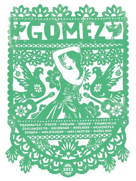 Image of Gomez Australian Tour Poster 2012