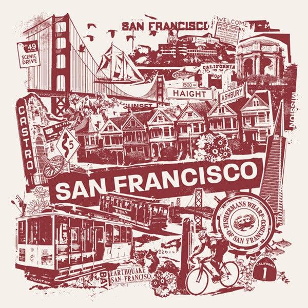 Image of San Francisco California City Print