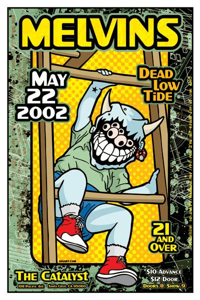 Image of Melvins 2002 Many Eyes Poster
