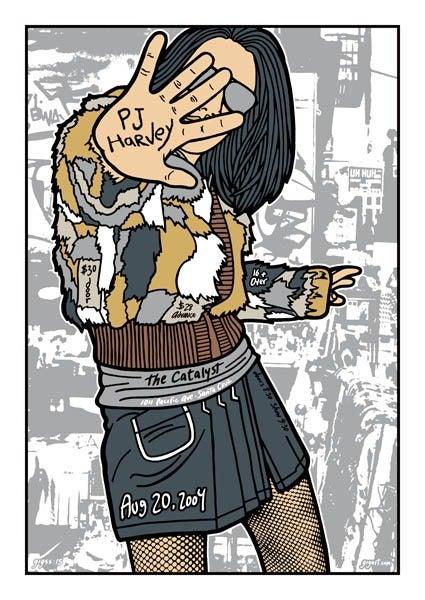 Image of PJ Harvey Poster 2004