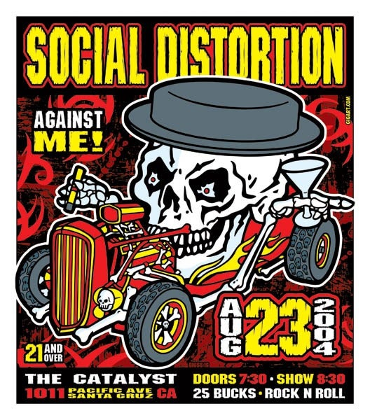 Image of Social Distortion Hot Rod Poster 2004