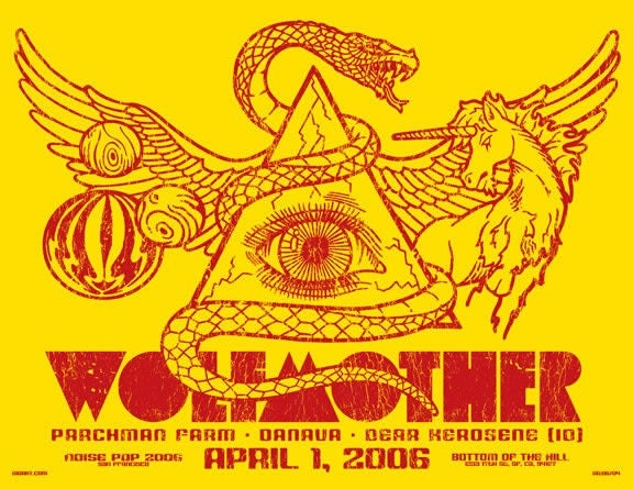 Image of Wolfmother Noise Pop Poster 2006