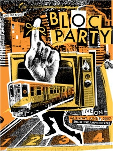 Image of Bloc Party Poster 2007