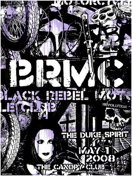 Image of Black Rebel Motorcycle Club Collage Poster 2008