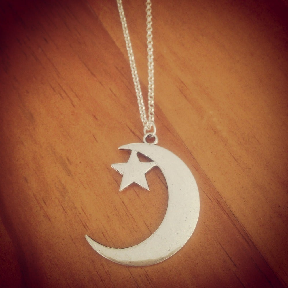 Image of HG moon crescent necklace