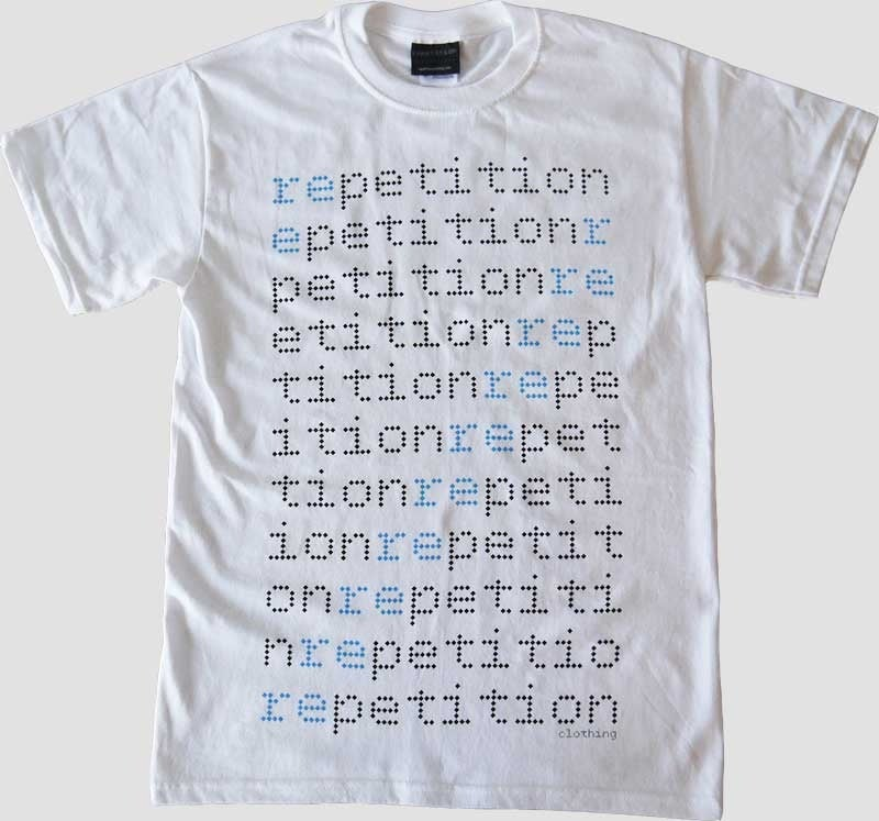 Image of Repeated Process 1 - White Tee