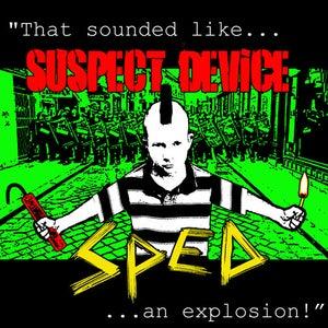 "Image of NEW! SpEd/Suspect Device 7"" Split Vinyl Record!"