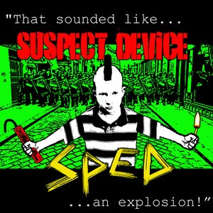 "Image of NEW! SpEd/Suspect Device 7"" Split Vinyl Record!"
